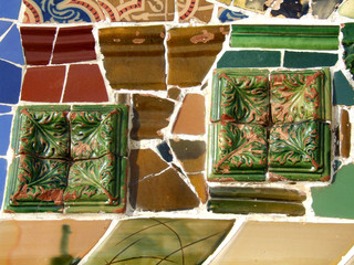 Colorful ceramic tiled abstract