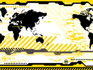 Digital abstract world