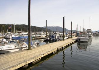 Harbor area in Juneau, Alaska