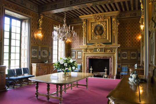 Interior of the Chateau Cheverny, France