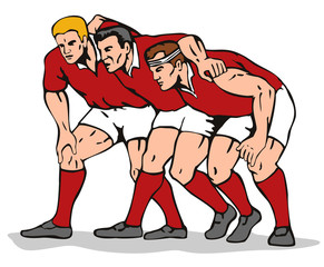 rugby player scrum
