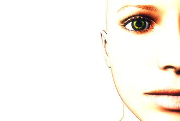3D render of a womans face