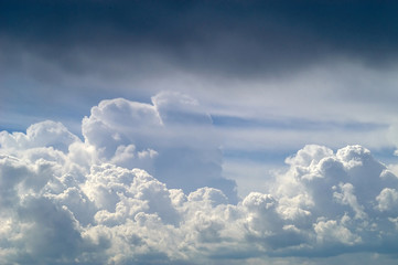 Blue sky with white clouds 1