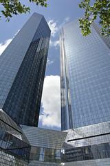 Fotobehang Aan het plafond Deutsche Bank Towers