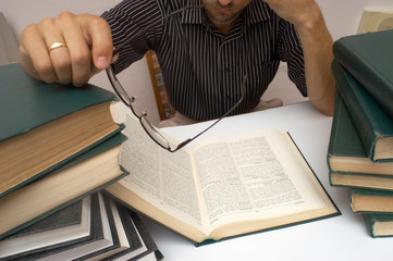 An image of man with books 7