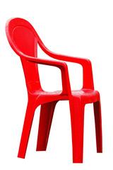 Chaise rouge détouré