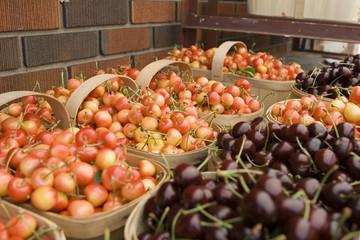 baskets full of cherries