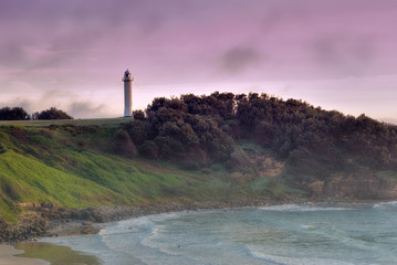 the coast and lightouse at byron bay