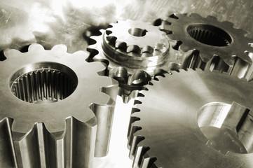 gear mechanism in metallic brown