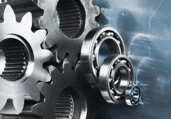 gears in dual metallic toning