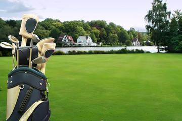 golf field in luxury village