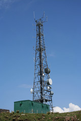tower with assorted transmitters