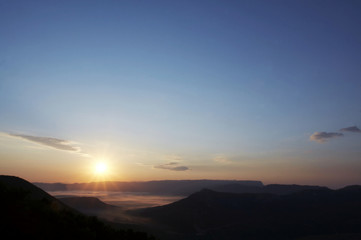 Sunset in the mountain