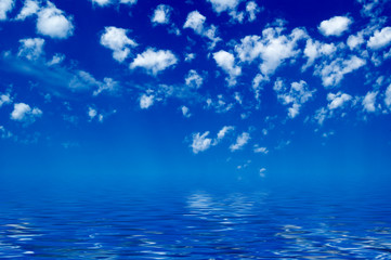 Water and sky..