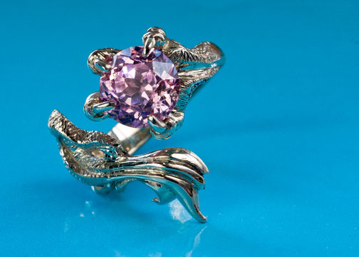 dragon ring with amethyst