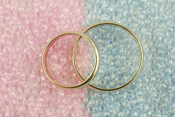 Two rings on beads