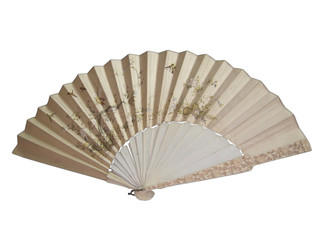 Chinese fan isolated on the white background