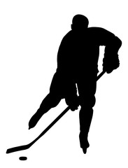 Hockey Player Silhouette. Check out my portfolio for other.