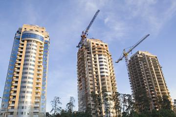 construction. multistoried buildings