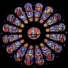 Doornik kathedraal gebrandschilderd glas