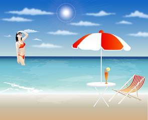 Girl Enjoying Summer On a beach