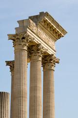 ruinen eines römischen Tempels in Xanten