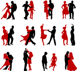 dance silhouettes