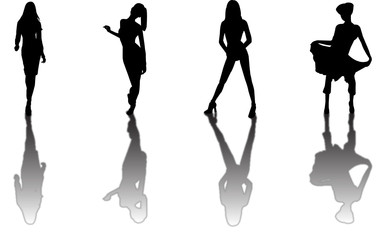 fashion model silhouettes
