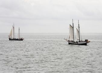 Sailingboats on the waddenzee