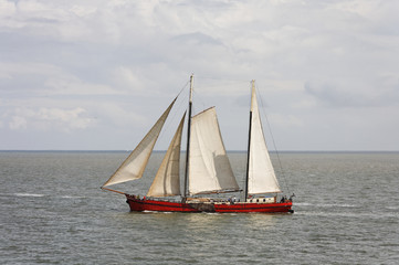 Sailing on the waddenzee