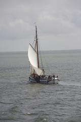Sailingboat on the waddenzee