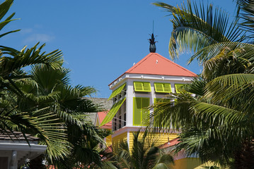 Colors of the Carribean -- architecture at Paradise Island