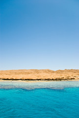 sand island in the Red Sea