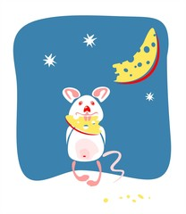 Mouse and moon