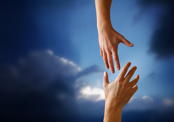 A Hand reaching Out to Someone