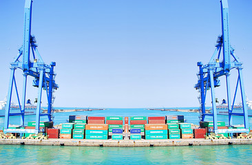 Grue dans un port