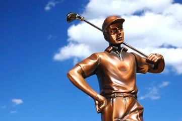 Bronze golfer