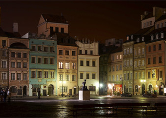 Warsaw by night - oldtown