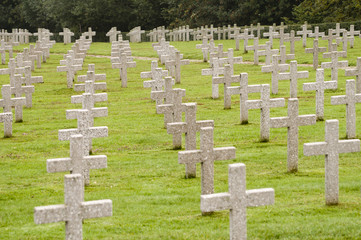 World War One war graves in France - landscape orientation