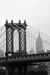 Manhattan Bridge in New York City (Black and White)