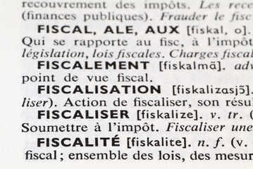 FISCALITE-DICTIONNAIRE