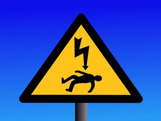 Danger of electrocution sign