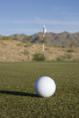 Golf Ball & Flag