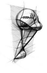 pencil's sketch the spaceship