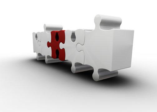 3D render of puzzle pieces