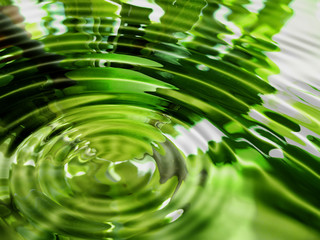 Bright abstract green water background