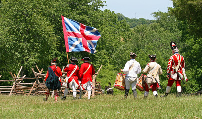 The enactment - The Battle of Monmouth in New Jersey