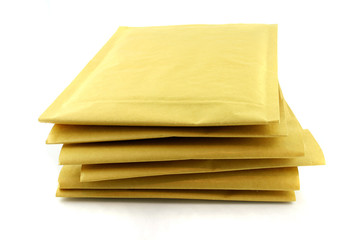 Several Transit Envelopes isolated on a white background