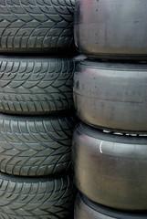 Motor racing tyres