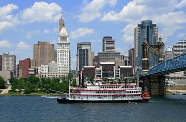Steamboat and Cincinnati, Ohio.